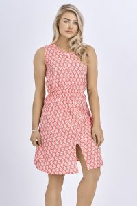 Babicoco Cotton Split Leg Midi Dress with Floral Print