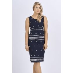 Babicoco Cotton Sleeveless Tie back Midi Dress for casual wear