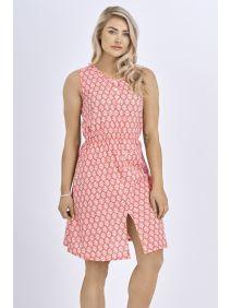 Babicoco Cotton Split Leg Midi Dress with Floral Print