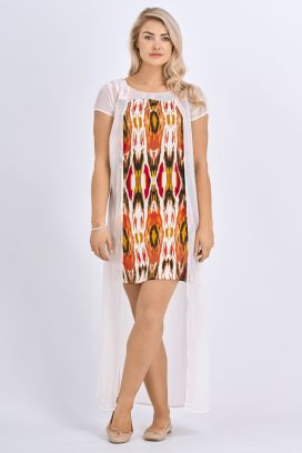 Babicoco White Transparent Overlay Mini Dress for Party wear