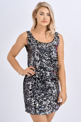 Babicoco Sequin Sleeveless Bodycon Mini Evening Dress