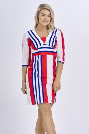 Babicoco Fashion Union Jack Belted Midi Dress