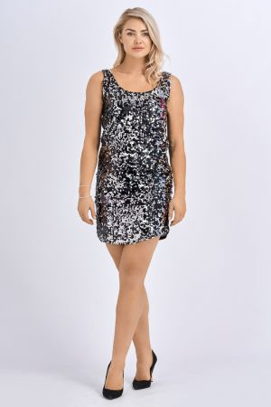 Babicoco Sequin Sleeveless Bodycon Mini Evening Dress