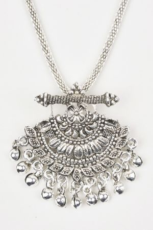 Babicoco Antique jewellery Oxidised/German Silver Round Necklace Set