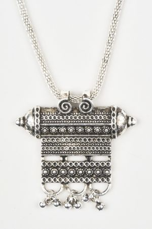 Babicoco Oxidised Necklace Set With Earring