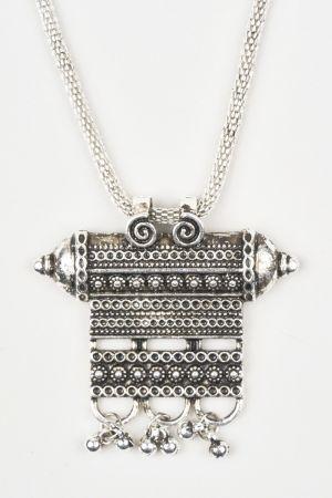 Babicoco Oxidised Necklace Set With Earring