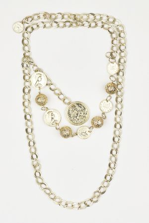 Babicoco Golden Penny Coin Necklace