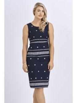 Babicoco Cotton Sleeveless Tie back Midi Dress for casual wear